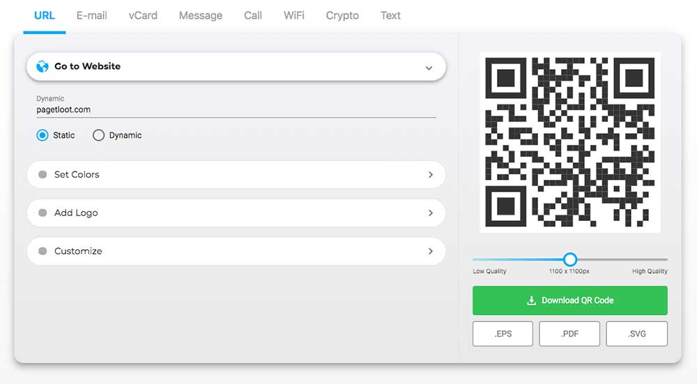 Create QR Codes For Free