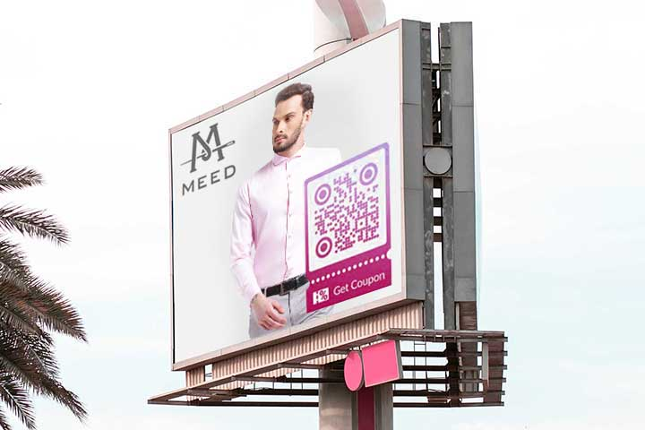 QR Code placement billboards business card