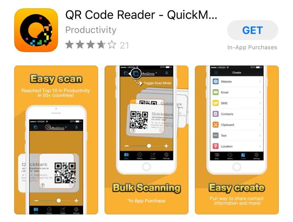 QuickMark-QR-Reader de coduri