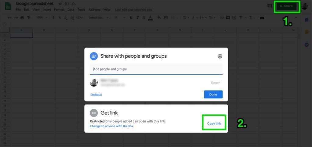 Bagikan Google QR Code dengan Link