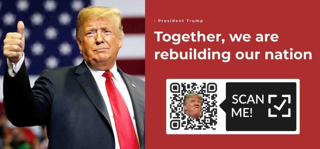 แคมเปญรหัส QR ของ Donald Trump