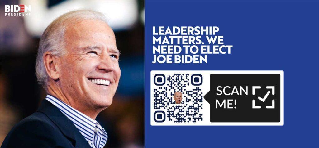 แคมเปญรหัส QR Joe Biden