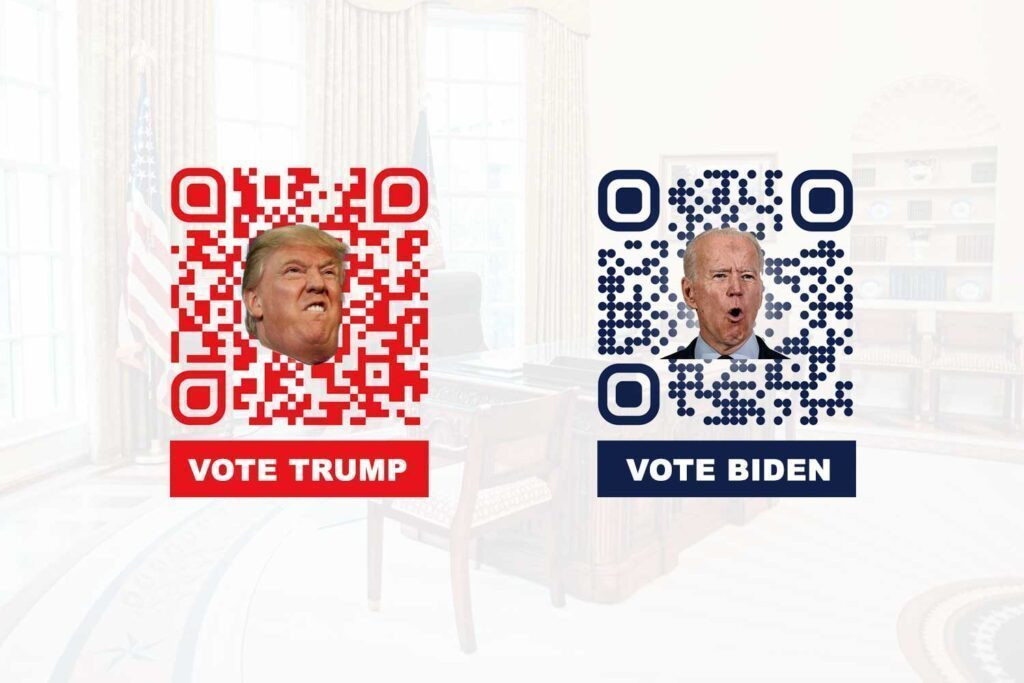 Make a QR Code for politics and presidential election campaign