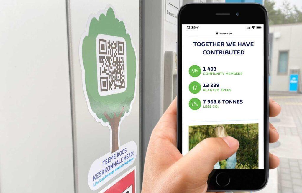Buat QR Code untuk lingkungan pompa bensin
