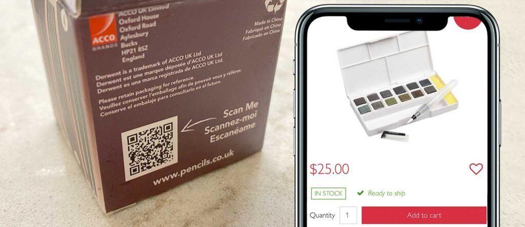 Fazer um código QR para o comércio eletrônico de produtos