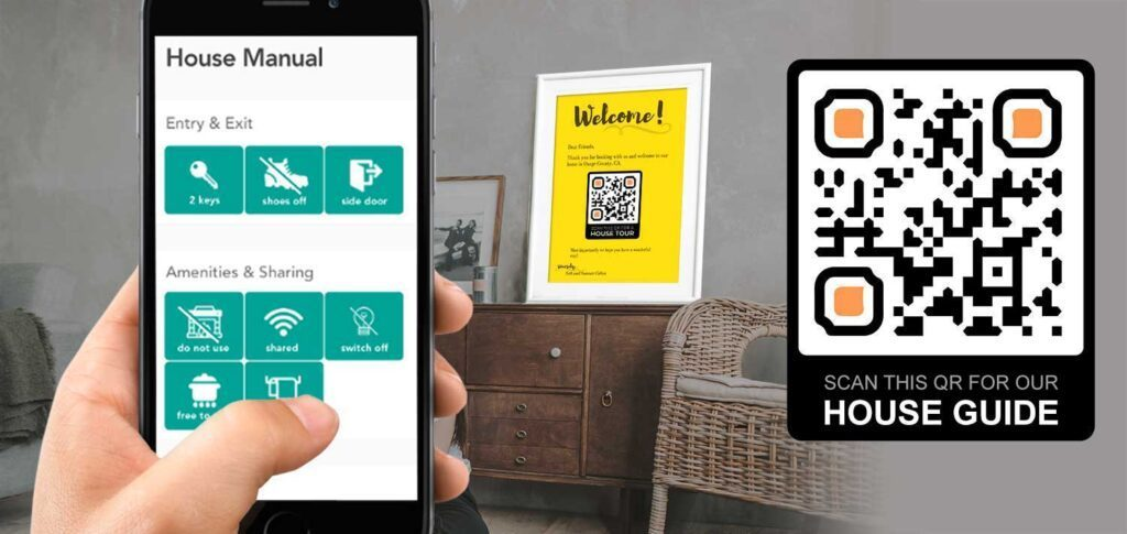 Airbnb House Manual Template Guide QR Code