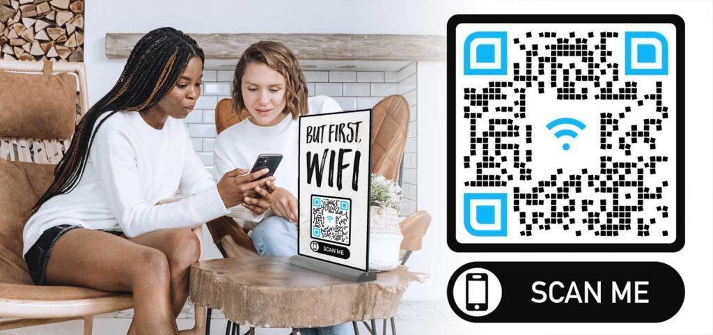 สร้างรหัส QR Airbnb Guest Wifi
