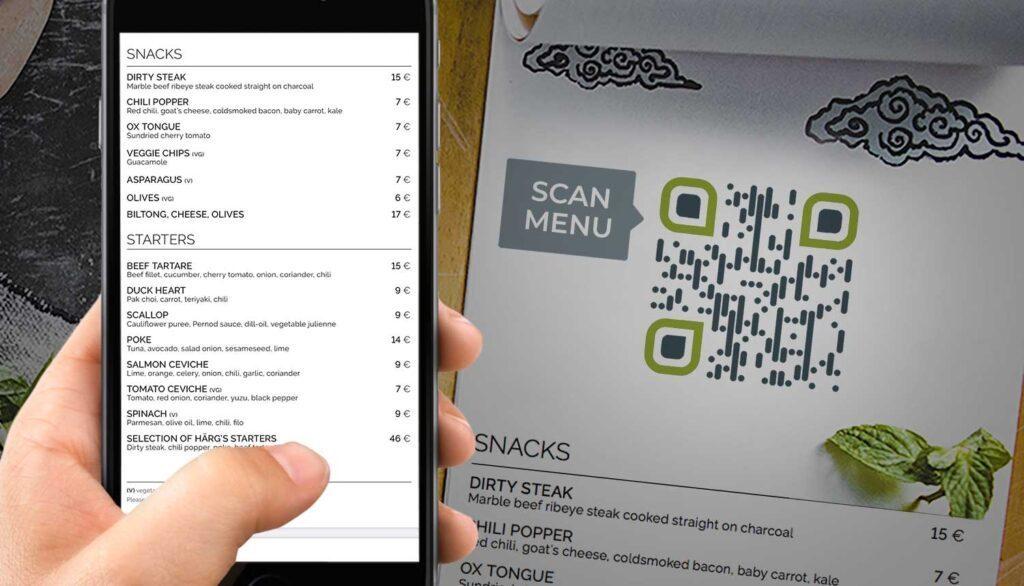 Erstellen eines QR-Codes für ein Restaurantmenü