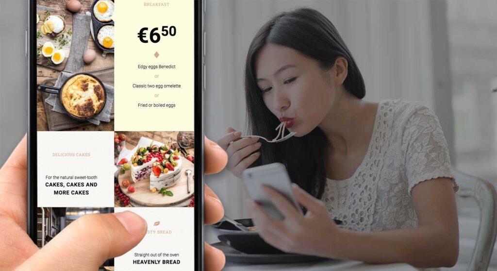 QR Kabeljau-Restaurantmenü kostenlos