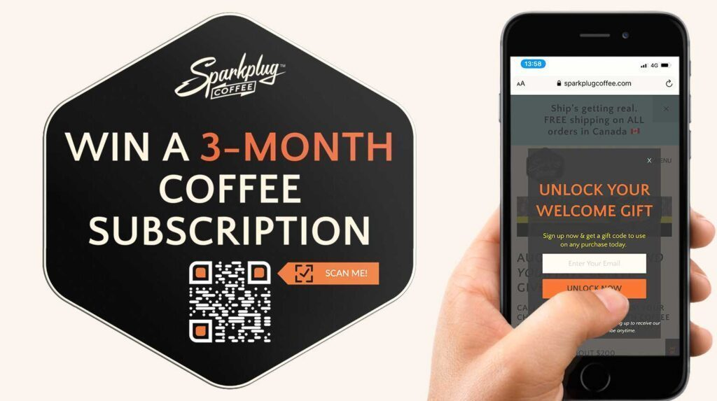 QR Code Generator for Giveaway Competition Coffee