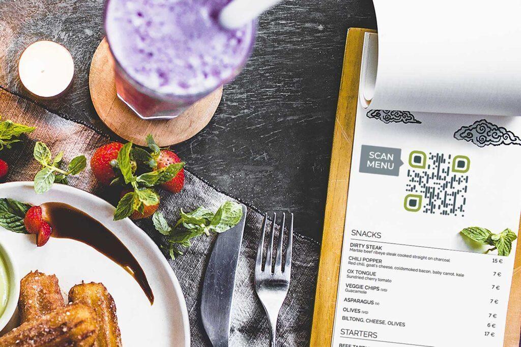 Speisekarte für Restaurants pdf QR-Code