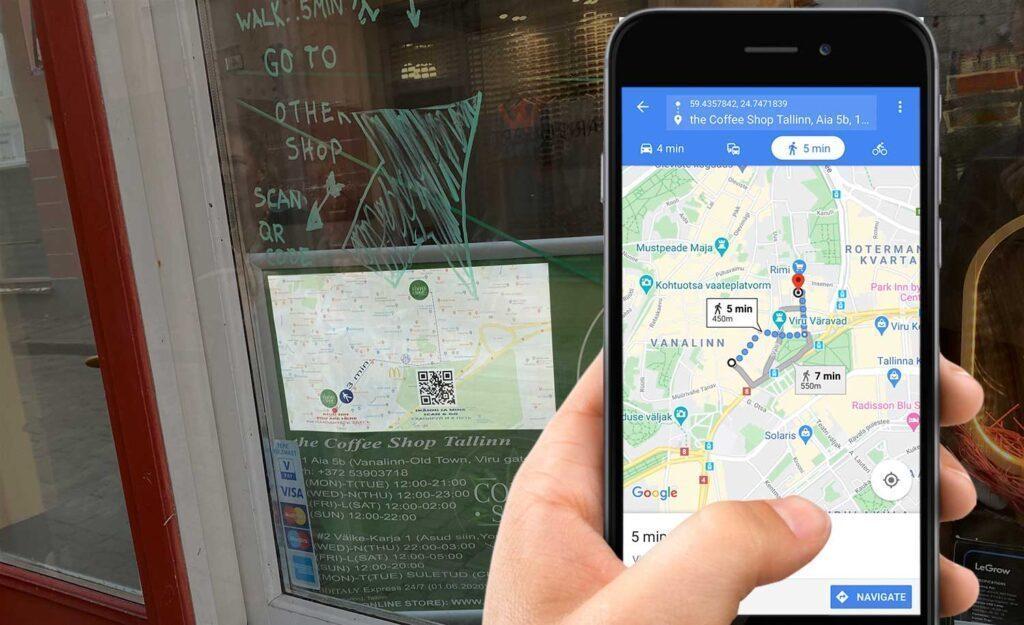 Criar um QR Code para loja de mapas de localização