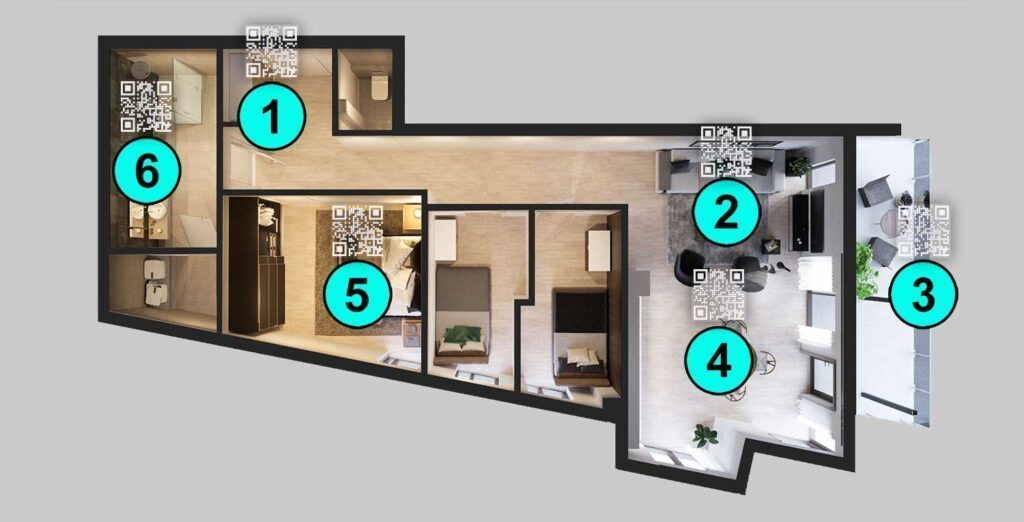 Where to use QR Codes in Airbnb apartments