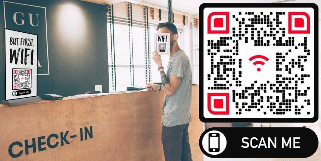 Hotelli WiFi juurdepääsu QR-generaator