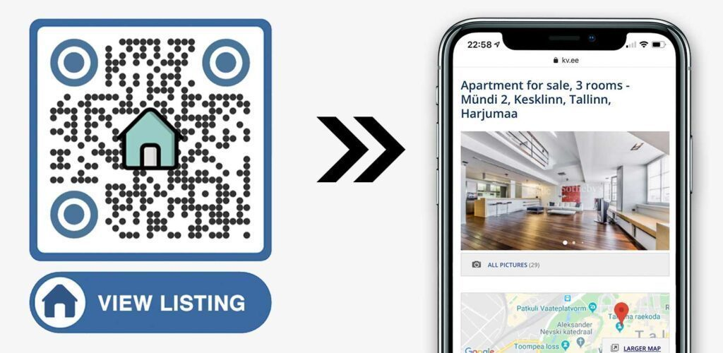 QR Code For Real Estate Property Listing