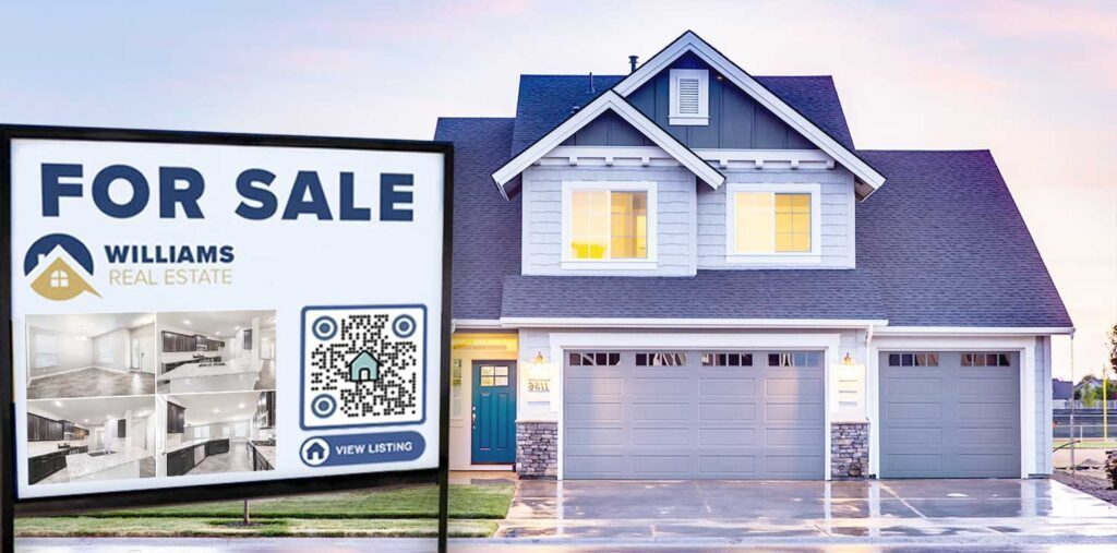 QR-kood Yard Sign Real Estate Property'is