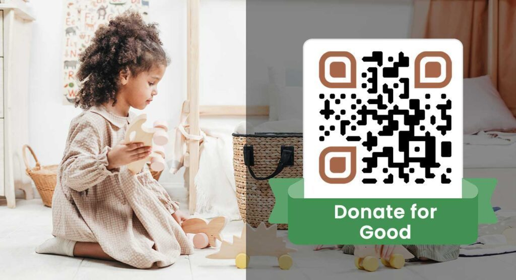 use a qr code for donation campaign charity