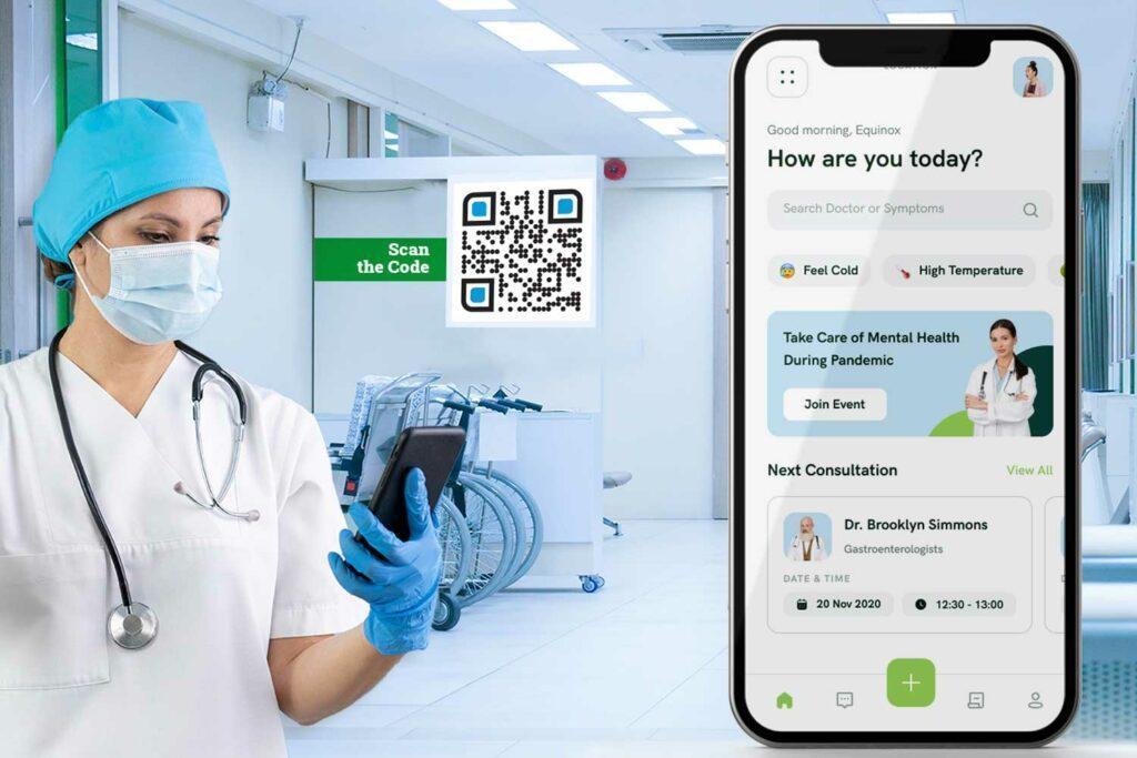 مولد کد رایگان qr برای بیمارستان و مراقبت های بهداشتی