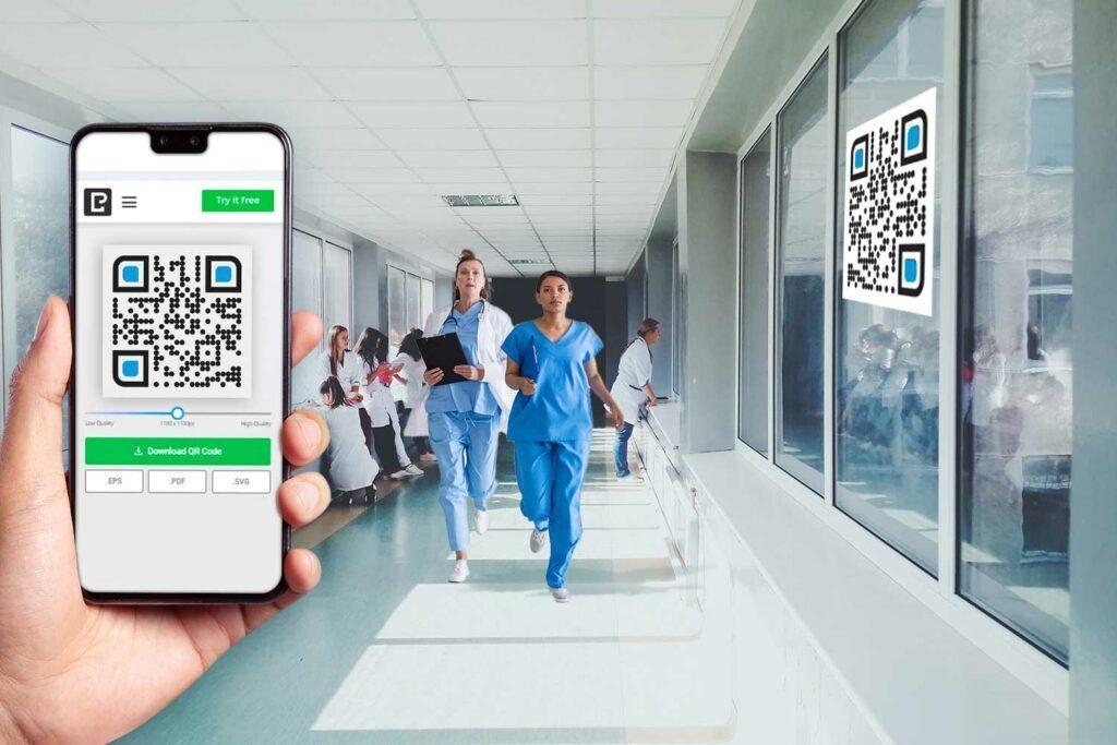نحوه ساختن کد qr برای بیمارستان ها