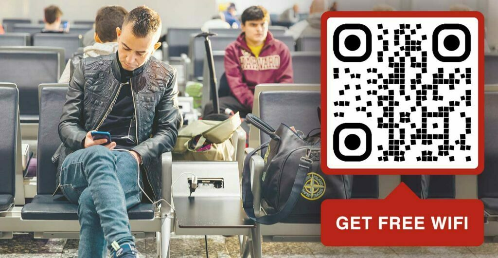 create a wifi qr code for airport