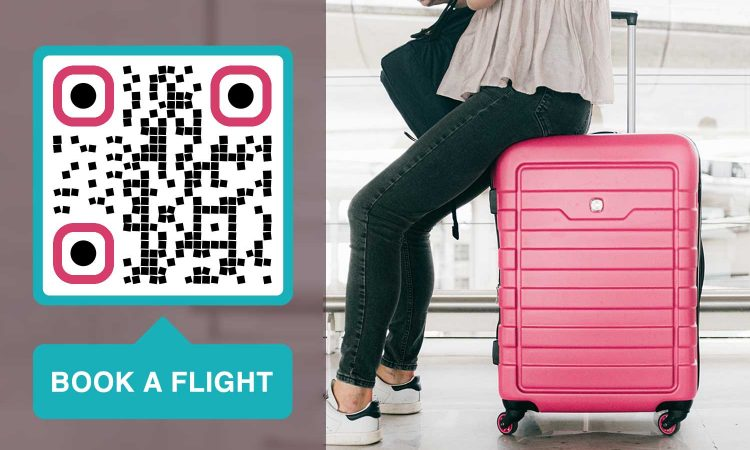 how to use a QR Code for airport